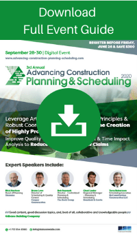 Advancing Construction Planning and Scheduling - Full Event Guide Widget